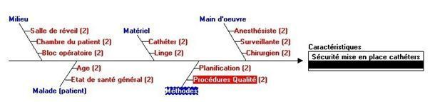 Sécurité du patien: diagramme cause-effet ou Ishikawa