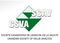 Reconnaissance par la SCAV Société Canadienne de l'Analyse de la Valeur