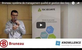 Bruneau: management des risques par l'approche QSE