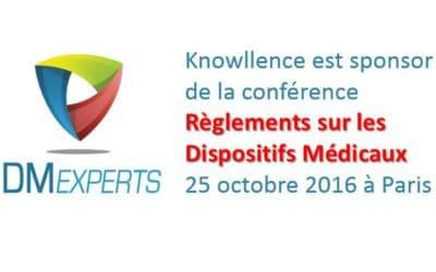 """Conférence DM Experts """"Règlements sur les dispositifs médicaux"""", 25 oct. 2016, Paris"""