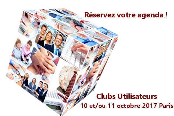 Réservez votre agenda pour votre Club Utilisateurs 2017 !