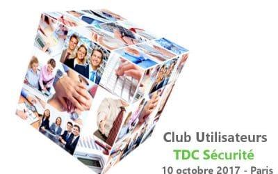 Compte-rendu du Club Utilisateurs TDC Sécurité 2017 (Santé Sécurité Environnement)