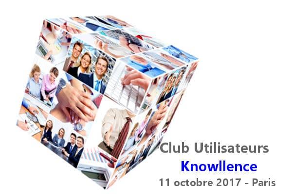 Réservez votre agenda pour votre Club Utilisateurs Knowllence 2017 !