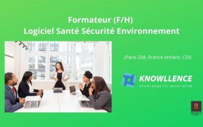 Offre d'emploi Formateur Logiciel Santé Sécurité Environnement (F/H)