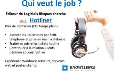 #Emploi : Offre Hotliner (H/F) CDI temps plein, près de Pontarlier