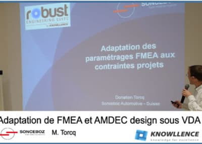 SONCEBOZ utilise le logiciel FMEA et le module VDA (vidéo)