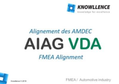 AIAG VDA : Alignement des référentiels AMDEC automobiles