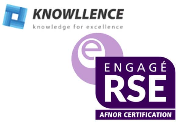knowllence est e-engagé RSE, label de l'AFNOR