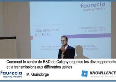 Faurecia / AMDEC et SPC : communication R&D et usines