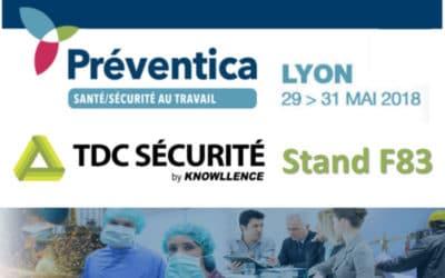 Notre logiciel HSE TDC Sécurité était sur Préventica Lyon (29>31 mai 2018) !