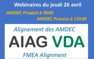 Webinaire Alignement AMDEC AIAG VDA : quels impacts sur vos #AMDEC ?