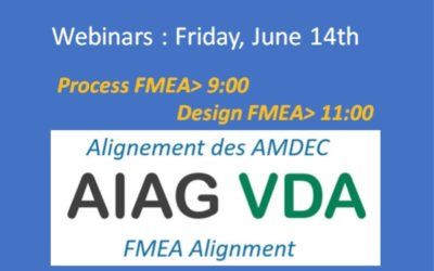 "Webinar ""AIAG VDA Alignment: the impacts on your FMEAs"""