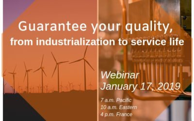 Guarantee your quality, from product industrialization to service life (webinar)