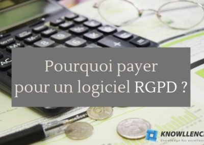 Pourquoi payer pour un logiciel RGPD ?