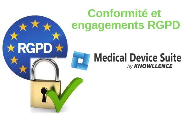 Medical Device Suite et Knowllence sont conformes au RGPD