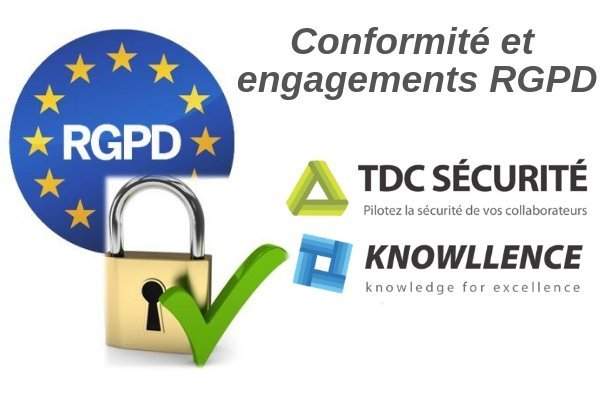 conformité rgpd du logiciel TDC Sécurité de Knowllence