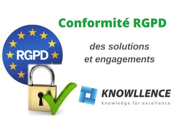 Conformité RGPD de Knowllence et de ses logiciels