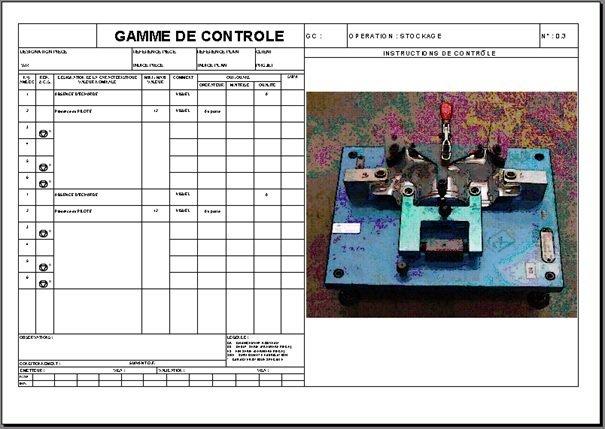 exemple de gamme de contrôle