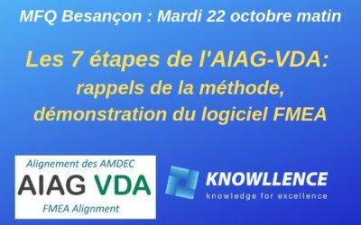 Les 7 étapes de l'AIAG-VDA: méthode et logiciel