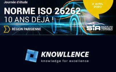Journée ISO 26262 de la SIA, en cours de programmation