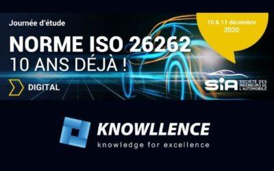 Journée d'étude ISO 26262 de la SIA, 10 & 11 décembre 2020 (digital)