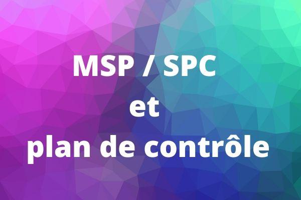 Lien SPC et plan de contrôle
