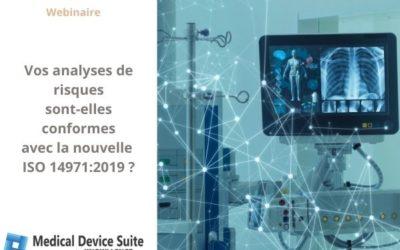 Dispositifs Médicaux: vos analyses de risques sont-elles conformes à ISO 14971:2019 ?