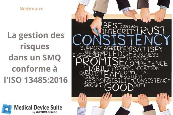 Logiciels et conformité SMQ ISO 14485