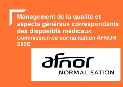 Commission de normalisation des dispositifs médicaux s95b