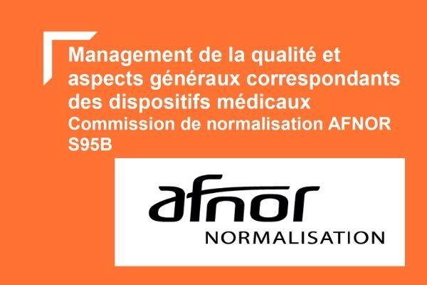 commission de normalisation sb95b : qualité des dispositifs médicaux