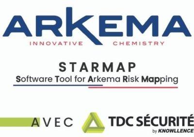 Outil Starmap ARKEMA : déploiement mondial de TDC Sécurité