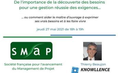 Conférence Management de Projet avec la SMaP